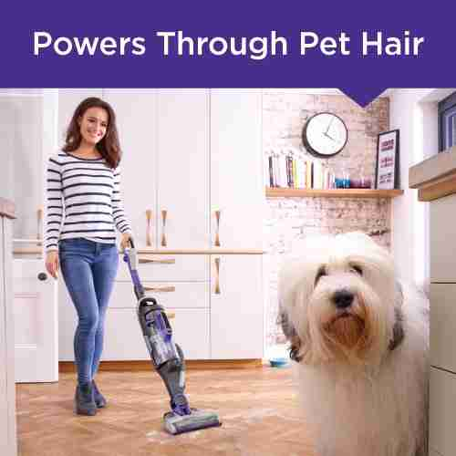 BLACK+DECKER Power Series Pro Pet Cordless Stick Vacuum, 2-in-1, Purple (HCUA525JP)